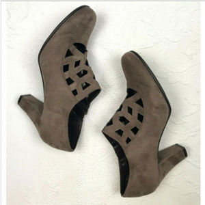 Aerosoles Sz 9 Booties Ankle Boots Taupe Suede